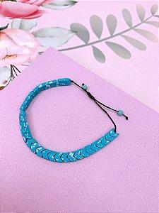 Pulseira seta azul
