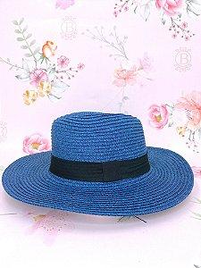 Chapéu Panamá de palha sintética - Azul marinho