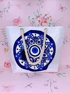 Bolsa de praia com Mandala azul