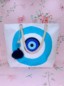 Bolsa de praia de Olho Grego azul