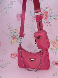 Bolsa Baguete 2 em 1 -pink