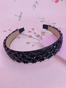 Arco grosso com missangas- preto,rosa,bege,bordô,colorido ou azul