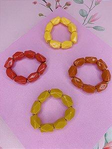Pulseira bolas grandes-laranja,amarelo,goiba ou mostarda
