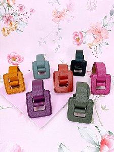 Cinto fivela quadrada-azul claro,mostarda,preto,roxo,terracota,rosa ou verde.