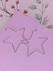 Brinco argola estrela Juliete -prata ou dourado