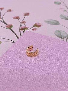 Piercing fake com mini esferas e pedrinhas - prata ou dourado