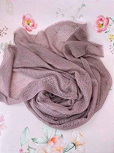 Lenço de inverno tecido telinha - preto, rosê, cinza, bege ou verde militar.