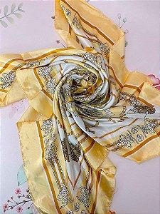 Lenço estampado de cordão, tessel e âncora - laranja, preto ou rosa