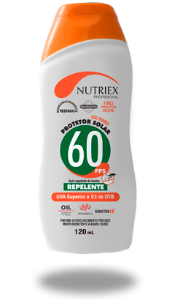 CREME PROTECAO SOLAR FPS 60 C/REPELENTE 120ML NUTRIEX 0062802