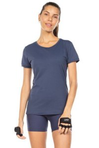 Blusa Baby Look Live Workout Azul