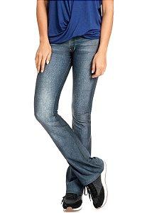 Calça Flare Live Jeans Casual Denim Dark