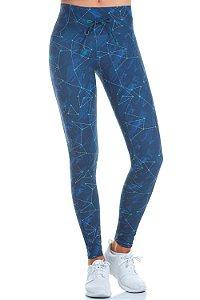 Calça Legging Alto Giro Constelação Azul Marinho