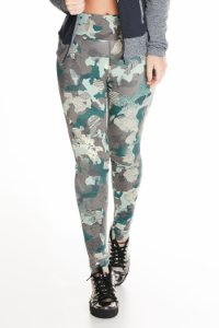 Calça Legging Let's Gym Militar Estampada