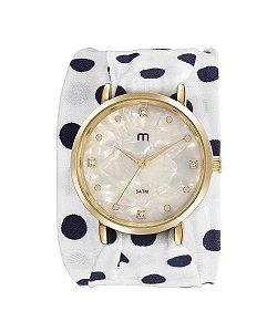 kit de relógio analógico mondaine feminino 32048LPMGDD1K branco