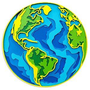 Mandala 3D Globo Terrestre Mapa Mundi Multilayer