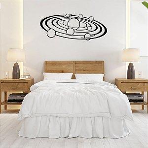 Quadro Sistema Solar Planetas em madeira