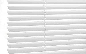 Persiana Horizontal de Alumínio 25mm Branca Sob Medida
