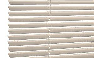 Persiana Horizontal de Alumínio 25mm Bege Sob Medida