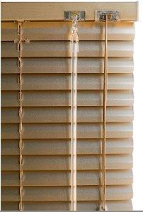 Persiana Horizontal de Alumínio 25mm Dourada - Sob Medida