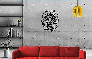 Escultura De Parede Leão Geométrico 60cm - Vários Animais