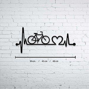 Escultura de Parede Bike Love ou Bicicleta