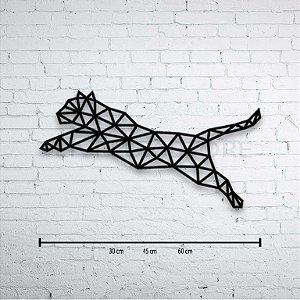 Escultura de Parede Gato Geométrico