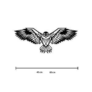 Escultura de Parede Águia Geométrica