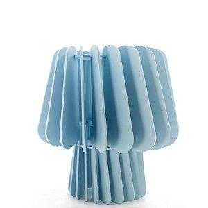 Abajur Cogumelo Luminária de Mesa - Azul Bebê