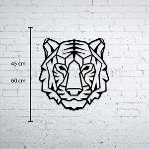 Escultura de Parede Tigre Geométrico