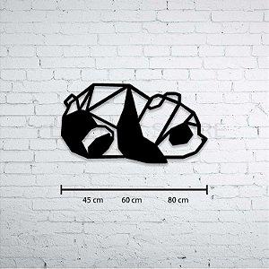 Escultura de Parede Urso Panda Geométrico
