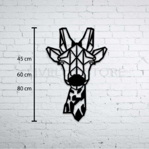 Escultura de Parede Girafa Geométrica Busto