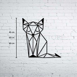 Escultura de Parede Gato Sonolento Geométrico
