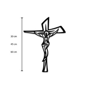 Escultura de Parede Crucifixo decorativo em madeira