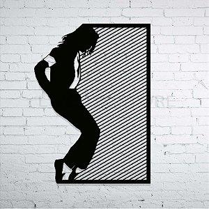 Quadro Decorativo Michael Jackson em Madeira