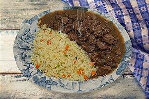 Picadinho de Cordeiro com Couscous Marroquino