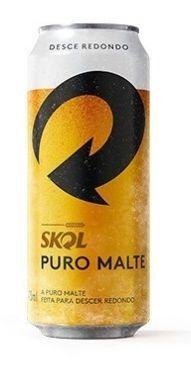 CERVEJA LATA PURO MALTE SKOL 473ML
