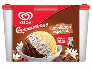 SORVETE KIBON NAPOLITANO TRISSABOR 2L