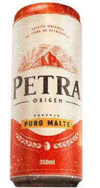 CERVEJA LATA PURO MALTE PETRA 350ML