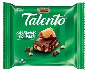 CHOCOLATE BARRA GAROTO TALENTO CASTANHA PARÁ 90G