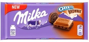 BARRA CHOCOLATE MILKA OREO BROWIE 100G