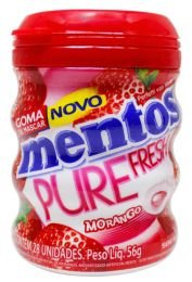 CHICLE PURE FRESH MENTOS MORANGO 56G