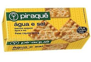 BISCOITO PIRAQUE SALGADO ÁGUA E SAL 200G