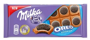 BARRA CHOCOLATE MILKA OREO SANDWICH 92G