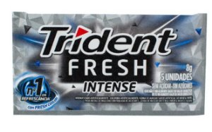 CHICLETE TRIDENT 21S 8G INTENSE FRESH