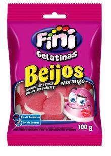 BALA GELATINA FINI AROS BEIJOS 100G