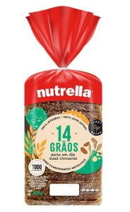 PÃO DE FORMA NUTRELLA 14 GRÃOS 450GR