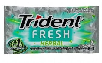 CHICLETE TRIDENT 21S 8G HERBAL S ACUCAR