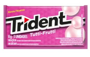 CHICLETE TRIDENT 21S TUTTI FRUTTI 8G