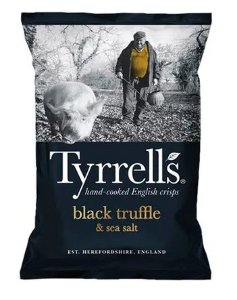 BATATA TYRRELLS BLACK TRUFFLE 150G