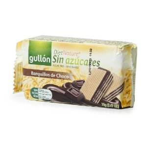 BISCOITO SEM AÇÚCAR GULLON WAFER CHOCOLATE 70G